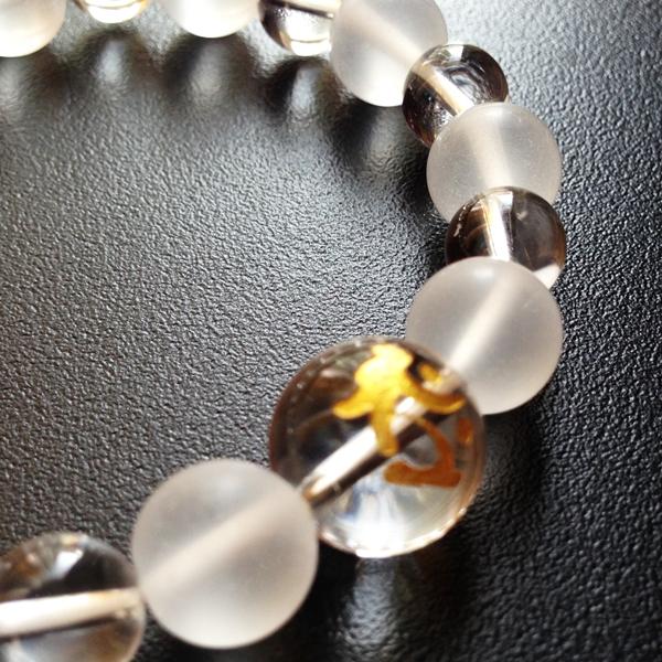梵字ブレス 水晶タイプ「タラーク」